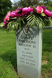 26 August 2017:   A part of the History of McLean County Illinois.<br /> <br /> Tombstones in Evergreen Memorial Cemetery.  Civic leaders, soldiers, and other prominent people are featured.<br /> <br /> Section 16 - Veterans Section<br /> Sidney Theodore Barlow Jr<br /> Private  US Army<br /> Nov 24 1950<br /> Nov 30 2011