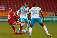 Tarryn Allarakhia on the ball during the EFL Sky Bet League 2 match between Walsall and Crawley Town at the Banks's Stadium, Walsall, England on 18 January 2020.