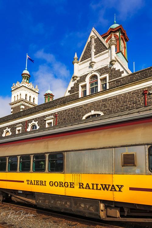 The Taieri Gorge Railway at the Dunedin Railway Station, Dunedin, South Island, New Zealand