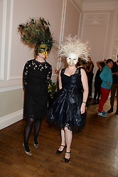 Left to right, RACHEL TREVOR MORGAN and LUCY CHAMBERLAIN at the The Animal Ball – Masking Up Moment held at the Quintessentially Ballrooms, 29 Portland Place, London W1 on 10th June 2013.