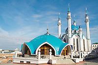 Russie, Republique du Tatarstan, Ville de Kazan. ensemble du Kremlin, Patrimoine mondial de l Unesco, mosquee Kul Sharif. // Russia, Tatarstan Republic, City of Kazan. Historic and Architectural Complex of the Kazan Kremlin, Unesco World Heritage, Kul Sharif mosque