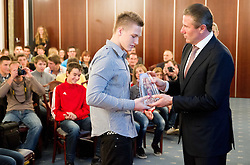 Primoz Mlakar with Sergey Bubka during the Slovenia's Athlete of the year award ceremony by Slovenian Athletics Federation AZS on November 8, 2013 in Grand Hotel Toplice, Bled, Slovenia. Photo by Vid Ponikvar / Sportida