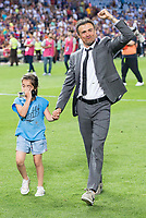 FC Barcelona's coach Luis Enrique Martinez with his daughter after Copa del Rey (King's Cup) Final between Deportivo Alaves and FC Barcelona at Vicente Calderon Stadium in Madrid, May 27, 2017. Spain.<br /> (ALTERPHOTOS/BorjaB.Hojas)
