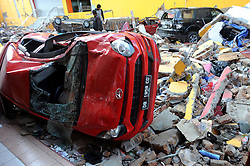 Oct. 2, 2018 - Palu, Indonesia - Cars debris after a 7.5-magnitude earthquake and tsunami hit Ramayana shopping mall in Palu, Indonesia. Over 1,234 people were killed in Palu, Donggala district, Parigi Mountong district and North Mamuju district, according to the Disaster Management Institute of Indonesia, Care for Humanity and the Humanity Data Center. (Credit Image: © Agung Kuncahya B/Xinhua via ZUMA Wire)
