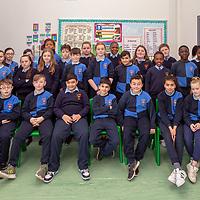 Mr Crehan and his 5th Class students from Scoil Chríost Rí, Cloughleigh