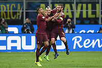Esultanza gol Radja Nainggolan Roma Goal celebration <br /> Milano 26-02-2017 Football Calcio serie A 2016/2017 Inter - AS Roma foto Image Sport/Insidefoto