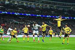 February 13, 2019 - London, England, United Kingdom - Tottenham forward Fernando Llorente heads in Spurs third goal during the UEFA Champions League match between Tottenham Hotspur and Ballspielverein Borussia 09 e.V. Dortmund at Wembley Stadium, London on Wednesday 13th February 2019. (Credit: Jon Bromley | MI News & Sport Ltd) (Credit Image: © Mi News/NurPhoto via ZUMA Press)