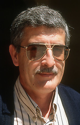 Portrait of man with moustache wearing sunglasses,