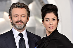 Michael Sheen and Sarah Silverman attend the World Premiere of Columbia Pictures' 'Passengers' at Regency Village Theatre on December 14, 2016 in Los Angeles, CA, USA. Photo by Lionel Hahn/ABACAPRESS.COM