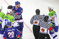 Rok Ticar of Slovenia during Ice Hockey match between National Teams of Great Britain and Slovenia in Round #1 of 2018 IIHF Ice Hockey World Championship Division I Group A, on April 22, 2018 in Budapest, Hungary. Photo by David Balogh / Sportida