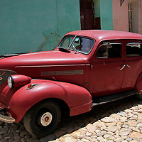 Central America, Cuba, Trinidad. Classic American Car in Trinidad.