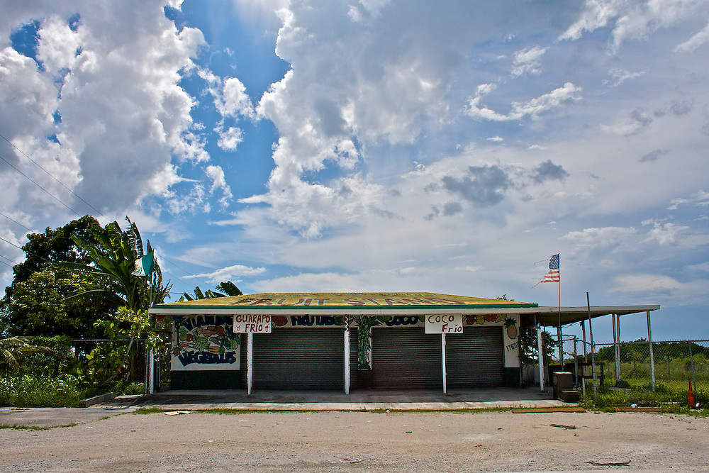 Fruit Stand and Sunshower, Krome Ave., Miami-Dade