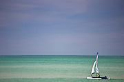 Windrider Trimaran sailboat, Anna Maria Island, Gulf of Mexico, Florida, USA