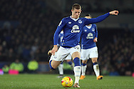 Ross Barkley of Everton looks to shoot. Capital one cup semi final 1st leg match, Everton v Manchester city at Goodison Park in Liverpool on Wednesday 6th January 2016.<br /> pic by Chris Stading, Andrew Orchard sports photography.