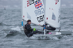 The annual RYA Youth National Championships is the UK's premier youth racing event. Day 3 with winds backing to the North the racing started on the Largs Channel.<br /> <br /> 210001, Chloe Barr, Stokes Bay, Laser Radial Girl <br /> <br /> Images: Marc Turner / RYA<br /> <br /> For further information contact:<br /> <br /> Richard Aspland, <br /> RYA Racing Communications Officer (on site)<br /> E: richard.aspland@rya.org.uk<br /> m: 07469 854599