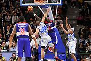 DESCRIZIONE : Campionato 2014/15 Dinamo Banco di Sardegna Sassari - Enel Brindisi<br /> GIOCATORE : Delroy James<br /> CATEGORIA : Tiro Penetrazione Controcampo Fallo<br /> SQUADRA : Enel Brindisi<br /> EVENTO : LegaBasket Serie A Beko 2014/2015<br /> GARA : Dinamo Banco di Sardegna Sassari - Enel Brindisi<br /> DATA : 27/10/2014<br /> SPORT : Pallacanestro <br /> AUTORE : Agenzia Ciamillo-Castoria / Luigi Canu<br /> Galleria : LegaBasket Serie A Beko 2014/2015<br /> Fotonotizia : Campionato 2014/15 Dinamo Banco di Sardegna Sassari - Enel Brindisi<br /> Predefinita :