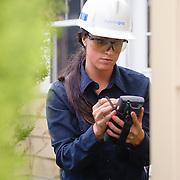 National Grid Meter worker installing new Smart Meter.