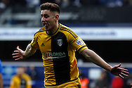 Tom Cairney of Fulham celebrating after scoring his team's third goal of the game.  Skybet football league championship match, Queens Park Rangers v Fulham at Loftus Road Stadium in London on Saturday 13th February 2016.<br /> pic by Steffan Bowen, Andrew Orchard sports photography.