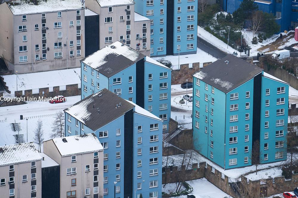 View of  apartment blocks at Dumbiedykes in Edinburgh, Scotland, UK