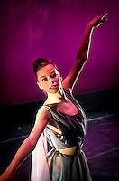 "A ballerina performing in Graham Lustig's ""A Jazzy Nutcrack"" at SOPAC in South Orange, NJ."