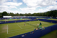 Veronica Cepede Royg of Paraguay hits a winner during the Women's Singles Quarter Final at the Fuzion 100 Ilkley Lawn Tennis Trophy Tournament held at Ilkley Lawn Tennis and Squad Club, Ilkley, United Kingdom on 19 June 2019.