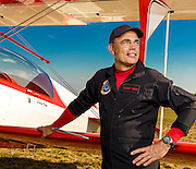 Larry King with his newly acquired 450hp Pitts Model 12.  Created during the Paulding County Airshow in October, 2013.