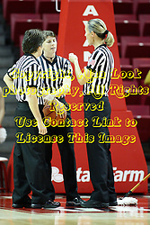 07 December 2012:  Referees Tina Napier, Amy Boner and Lisa Mattingly during an NCAA women's basketball game between the Northwestern Wildcats and the Illinois Sate Redbirds at Redbird Arena in Normal IL