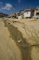 Untreated sewage runoff from homes in Los Laureles Canyon - Tijuana Mexico.