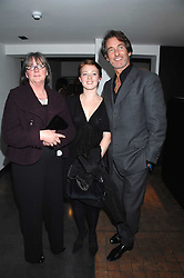 Left to right, MRS HILARY JEFFERIES, her grandaughter MILLY McILVENNY and MR TIM JEFFERIES at a private view of Octagan a showcase of work of photographer Kevin Lynch featuring the stars of the Ultimate Fighter Championship held at Hamiltons gallery, Mayfair, London on 17th January 2008.<br /><br />NON EXCLUSIVE - WORLD RIGHTS