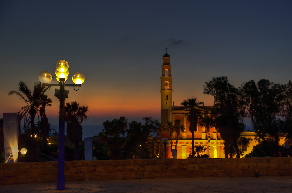 St. Peter's church in the sunset