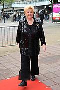 Feestelijke bijeenkomst t.g.v. 70ste verjaardag prof.mr. Pieter van Vollenhoven in het Beatrixtheater in Utrecht / Celebration of the 70th birthday of prof.mr. Pieter van Vollenhoven in the Beatrixtheatre in Utrecht.<br /> <br /> On the photo:<br /> <br />  Erica Terpstra