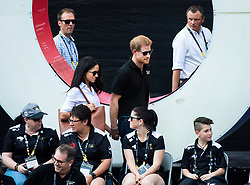Prince Harry arrives with his girlfriend Meghan Markle during the wheelchair tennis event at the Invictus Games in Toronto, ON, Canada, Monday September 25, 2017. This is Prince Harry's first public appearance with Markle. Photo by Nathan Denette/CP/ABACAPRESS.COM