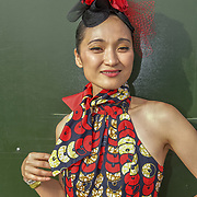 Megumi Mesaku is a Japanese saxophonist at the Lambeth Country Show 2019 a family festival with live music food & drinks, Arts and Culture and animal show at Brockwell Park, London.