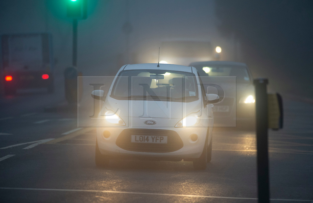 ©Licensed to London News Pictures 30/11/2019.<br /> Orpington,UK. Freezing foggy conditions this morning across South East London. Freezing cold fog on Sevenoaks Way, Orpington in the London borough of Bromley. Photo credit: Grant Falvey/LNP