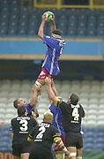 Shepards Bush, West London, UK., 30.09.2001, David Auradou,  London Wasps vs Stade Francais, Loftus Road Stadium,<br /> Heineken European Rugby Cup,<br /> [Mandatory Credit: Peter Spurrier/Intersport Images],