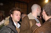 Juergen Teller, Opening of Carl Freidman's Counter Editions, Charlotte Rd. 11 March 2003. © Copyright Photograph by Dafydd Jones 66 Stockwell Park Rd. London SW9 0DA Tel 020 7733 0108 www.dafjones.com