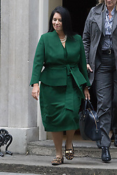 Downing Street, London, January 10th 2017. International Development Secretary Priti Patel (left) leaves the weekly UK cabinet meeting at 10 Downing Street as the new Parliamentary term begins.