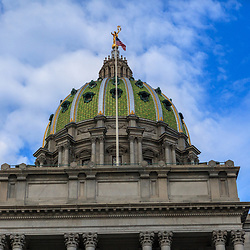 Harrisburg, PA, USA - March 25, 2012: Pennsylvania State Capital Building in Harrisburg, PA
