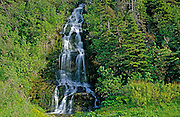 waterfall along Gulf of St. Lawrence<br /> Madeleine Centre<br /> Quebec<br /> Canada