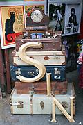 Brick a brac on sale in a shop in Spitalfields, London