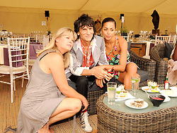 Asprey World Class Cup polo held at Hurtwood Park Polo Club, Ewhurst, Surrey on 17th July 2010.<br /> Picture shows:- JAYNE JONES, RONNIE WOOD and ANA ARAUJO