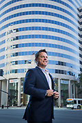 Erik Hallgrimson poses for a portrait in San Jose, California, on August 25, 2017. (Stan Olszewski for Silicon Valley Business Journal)