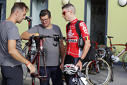 July 4, 2018 - Mouilleron Le Captif, France - MOUILLERON-LE-CAPTIF, FRANCE - JULY 4 : KEUKELEIRE Jens  (BEL)  of Lotto Soudal during a team reconnaissance of stage 1 prior the 105th edition of the 2018 Tour de France cycling race, a stage of 201 kms between Noirmoutier-en-l'Ile and Mouilleron-Le-Captif on July 04, 2018 in Mouilleron-Le-Captif, France, 4/07/18 (Credit Image: © Panoramic via ZUMA Press)