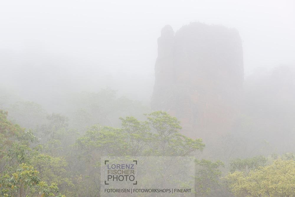 Felsformationen, Zacken und Türme im Hochland, Chapada dos Guimaraes, Brasilien<br /> <br /> Rock formations, crags and towers in the highlands, Chapada dos Guimaraes, Brazil