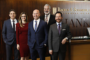 SHOT 1/8/19 12:10:14 PM - Bachus & Schanker LLC lawyers James Olsen, Maaren Johnson, J. Kyle Bachus, Darin Schanker and Andrew Quisenberry in their downtown Denver, Co. offices. The law firm specializes in car accidents, personal injury cases, consumer rights, class action suits and much more. (Photo by Marc Piscotty / © 2018)