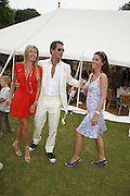 GRACE RICCI, TIM JEFFERIES AND CAROL GALLAGHER, Guy Leymarie and Tara Getty host The De Beers Cricket Match. The Lashings Team versus the Old English team. Wormsley. ONE TIME USE ONLY - DO NOT ARCHIVE  © Copyright Photograph by Dafydd Jones 66 Stockwell Park Rd. London SW9 0DA Tel 020 7733 0108 www.dafjones.com