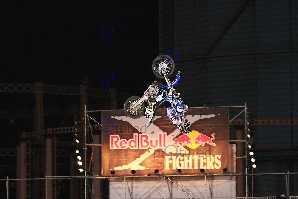 Nate Adams Red Bull X-Fighters International Freestyle Motocross, Battersea Power Station, London, UK, 14 August 2010: For piQtured Sales contact: Ian@Piqtured.com +44(0)791 626 2580 (Picture by Richard Goldschmidt/Piqtured)