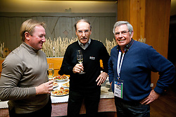 Bojan Krizaj (SLO), Reinhard Tritscher (AUT) and Patrick Russel (FRA) at meeting of former Alpine Ski racers named as Vitranc Legends - Winners of Vitranc Cup  at FIS Ski World Cup Alpine Kranjska Gora, on March 5, 2011 in Kranjska Gora, Slovenia.  (Photo By Vid Ponikvar / Sportida.com)