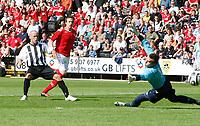 Photo: Steve Bond/Richard Lane Photography. Nottingham County v Nottigham Forest. Pre season Friendly. 25/07/2009. Luke Rodgers watches the ball go into net