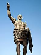 Statue of Caesar Augustus, emperor and great nephew of Julius Caesar, Rome, Italy.